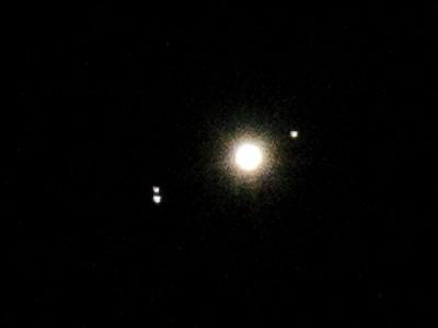 Giove e tre delle sue lune