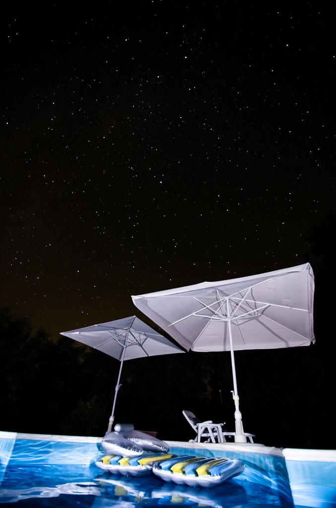 Una piscina tra le stelle